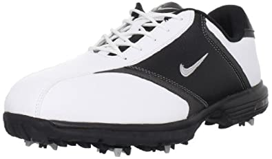 Nike Golf Men's Nike Leather Golf Shoe,White/Metallic Silver/Black,12 W US