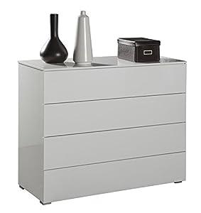 Com quattro cassetti moderno laccato bianco ct7166 - Emporio del mobile in kit ...