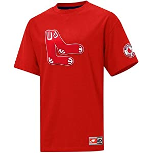 Nike Boston Red Sox Red Cooperstown Tackle Twill Logo T-shirt by Nike