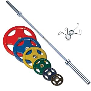 Rubber Grip Oly Set Weight: 300 lbs