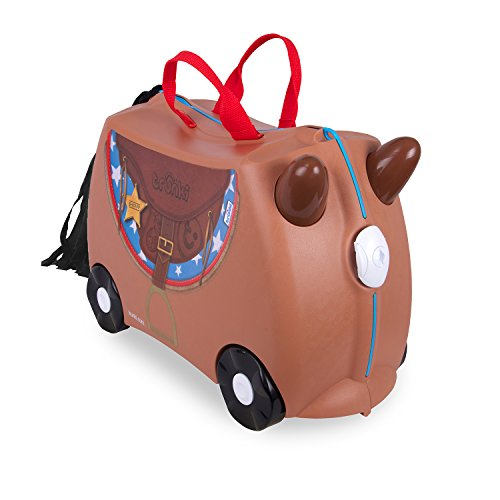 Trunki Ride-on Suitcase Valigia per bambini 0183-GB01, 46 cm, 18 L, Marrone