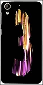Snoogg Flaming 3D Letter Designer Protective Back Case Cover For HTC Desire 728