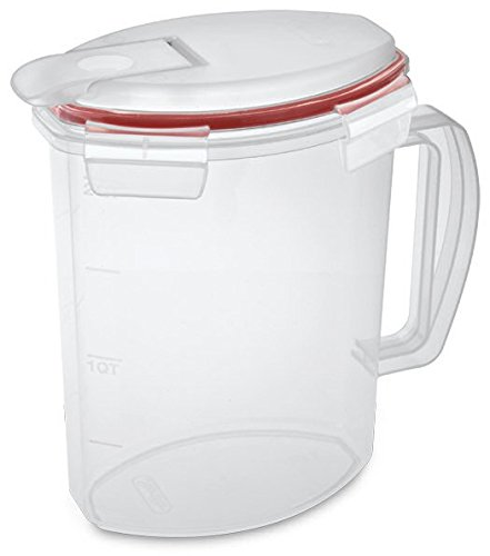 TrueCraftware Clear Plastic Beverage Pitcher with Ultra Seal - 2.2 Quart Pitcher (Airtight Drink Pitcher compare prices)