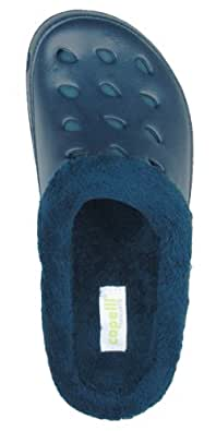 Capelli New York Micro Cozy Upper with Faux Suede Backing Ladies Solid Injected EVA Clog Navy 9