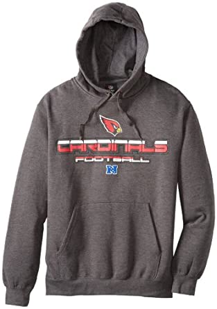 NFL Arizona Cardinals First And Goal V Hooded Sweatshirt, Charcoal Heather, Medium by VF LSG