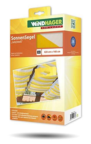 Toldo para estructura corredera Windhager 10873 420 x 140cm, amarillo / blanco