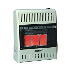 Kozy World KWP196 15,000-BTU Vent-Free LP-Gas Infrared Wall Heater with Thermostat