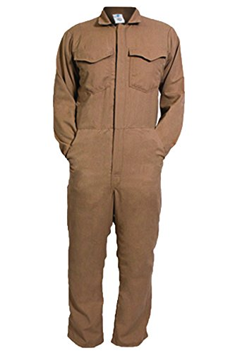 National Safety Apparel C88LIXL32 ArcGuard DuPont Protera Arc Flash Coverall, X-Large, Khaki