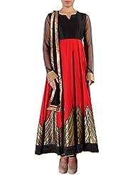 Kalki Fashion Red Anarkali Suit Adorn In Zari Embroidery Only On Kalki