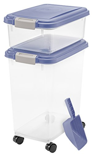 3- Piece Airtight Pet Food Storage Container Combo, Blue (Iris Usa Inc compare prices)