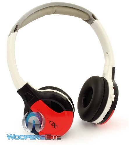 Xo Vision Ir630R Universal Ir Wireless Foldable Headphones, Red