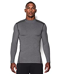 Under Armour Men\'s ColdGear Armour Compression Mock, True Gray Heather (025), Medium