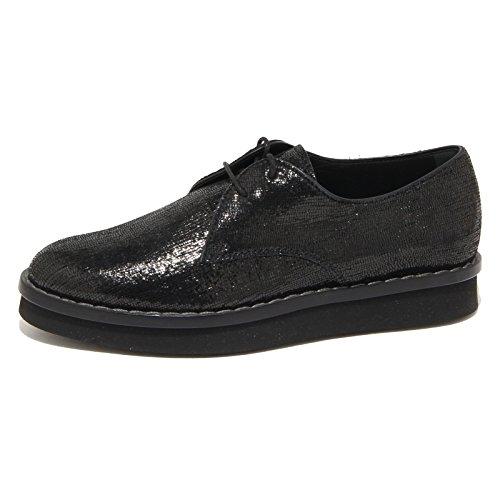 9242N scarpa allacciata TOD'S DERBY nero scarpe donna shoes women [39.5]