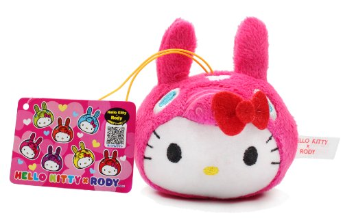 "3.5"" Official Sanrio Hello Kitty X Rody Plush Strap Pink"