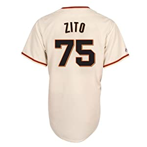 MLB Barry Zito San Francisco Giants Replica Home Jersey, Ivory by Majestic