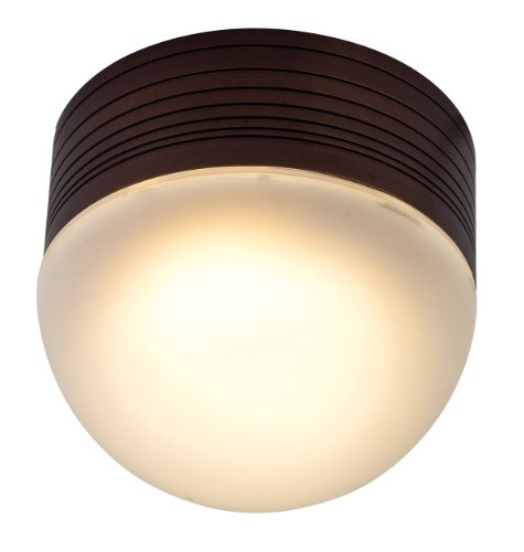 Access Lighting 20337Mg-Brz/Fst Micromoon Wet Location Ceiling Or Wall Fixture, Bronze Finish With Frosted Glass