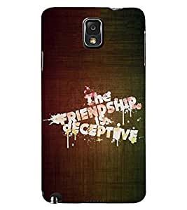 PRINTSWAG QUOTE Designer Back Cover Case for SAMSUNG GALAXY NOTE 3