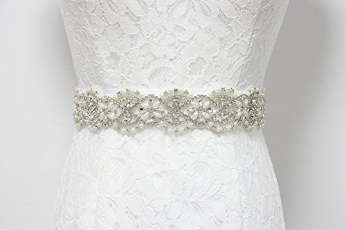 Trlyc New White/Ivory Wedding Dress Sash, Simple and Upscale Belt, one yard Bridal Belt, The smiling Wedding Bridal belt
