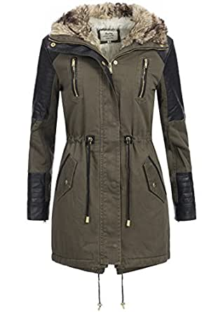 violet fashion damen wintermantel eb701 warmer baumwoll parka mit. Black Bedroom Furniture Sets. Home Design Ideas