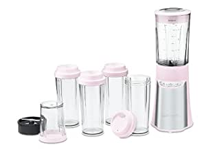 Cuisinart CPB-300PK SmartPower 15-Piece Compact Portable Blending/Chopping System, Pink