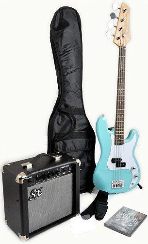 Ursa 1 Jr Rn Pk Pbu Blue Bass Guitar Package W/Free Amp Carry Bag, Strap And Dvd