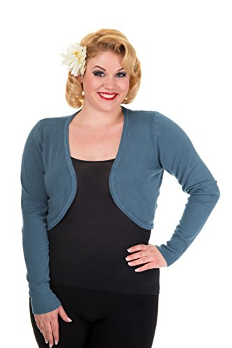 Banned Plus Size sfarfalla Bolero - Indigo Blue / UK 22 / US 18 / EU 48