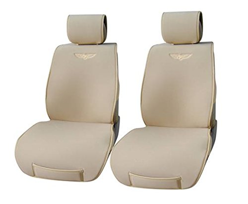 Velour With Leather Trim 2 Front Car Seat Cover Cushions Honda 801 Tan front-452014