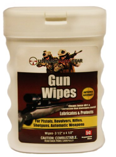 Ultimate Arms Gear Remington 870/1187/11-87 12/20 Gauge Shotgun Pro Armorer's Gun Wipes Cloth Patches Cleaner Lubricanting Oil Protector Preservative Safe Travel Convinient Pop-Up Portable Dispenser Carry Range Field Cleans Loose Dirt, Displaces Moisture Prevents Rust & Corrosion that Damages Metal Parts for Cleaning Firearms Rifles Auto Weapons (50-Sheets) (Remington 870 Shotgun Parts compare prices)