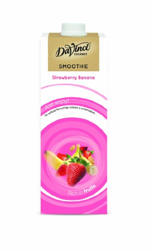 DaVinci Gourmet Strawberry and Banana Smoothie 1 Litre (Pack of 2)