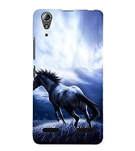 Fuson Premium Back Case Cover Horse With Multi Background Degined For Lenovo A6000 Plus