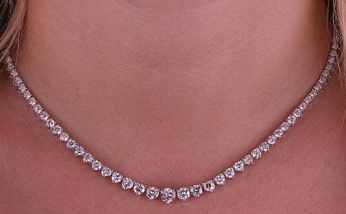 Diamonds Tennis Necklace 8.06ct Natural Diamonds