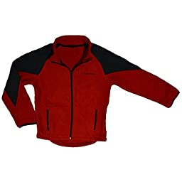 Polar Fleece Jacket, Red 4T