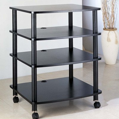 Ar Series 4-Shelf Modular Rack Frame Finish: Silver, Shelf Color: Cherry