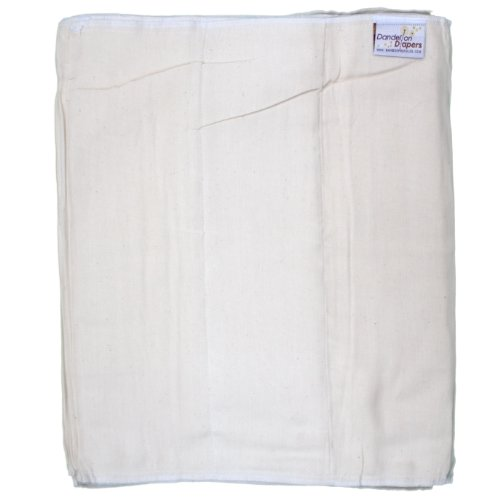 Dandelion Diapers Organic Cotton Blend Prefolds 3 Pack - Size 5