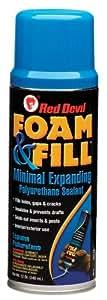 Red Devil 0913 Foam & Fill Expanding Polyurethane Foam Minimal expanding Aerosol 12 Oz.