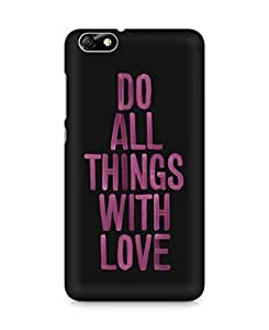 Amez designer printed 3d premium high quality back case cover for Huawei Honor 4X (Love Quote 4)