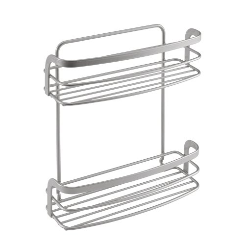 Wire World 35.04.16 Eureka 2-Tier Spice Holder with Safefix, Silver