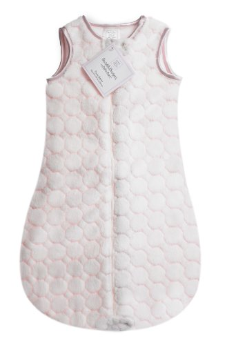 SwaddleDesigns zzZipMe Sack with 2-Way Zipper, Cozy Microplush Wearable Blanket, Pastel Puff Circle, Pastel Pink 3-6 months - 1