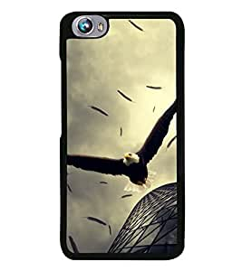 Fuson Premium 2D Back Case Cover Flying Eagle With Multi Background Degined For Micromax Canvas Fire 4 A107