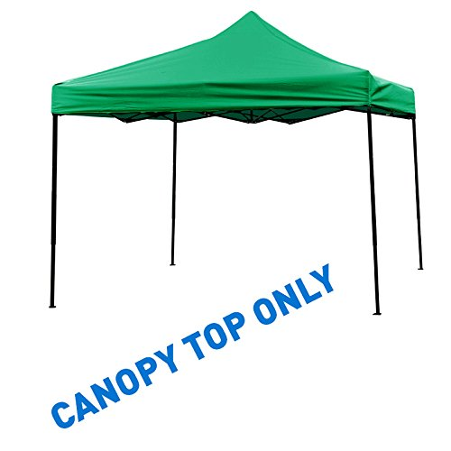Trademark Innovations Square Replacement Canopy Gazebo Top in Assorted Colors, 10 by 10-Feet, Green
