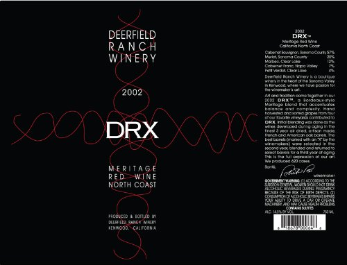2002 Deerfield Ranch Winery Blend - Red Sonoma County 750 Ml