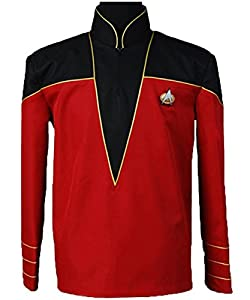 Cosdaddy® Star Trek Cosplay Costume Admiral's Uniform Jacket Red Coat