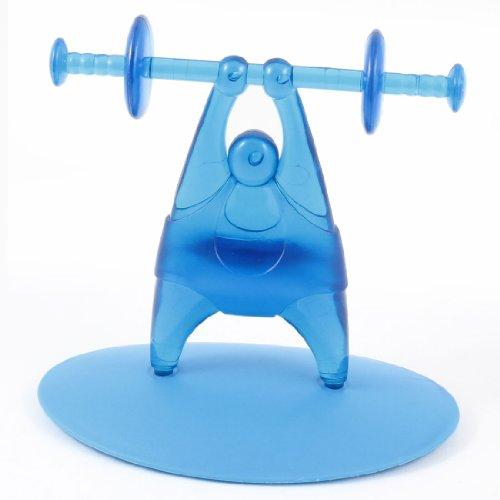 Home Weightlifter Design Blue Plastic Desktop CD Storage Rack Shelf w Base