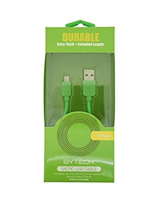 Durable Extra Thick Extended Length Micro USB Cable - Assorted Colors