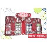 Smirnoff Vodka Gift Set - Original, Lime, Blueberry and Green Apple Vodka Pack (4 x 5cl)
