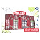 Smirnoff Vodka Gift Set - Original, Lime, Blueberry and Green Apple Vodka Pack (4 x 5cl)