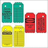 "Scaffold Tag Kit- 6"" Disposable Tags- 10 Red Tags, 10 Green Tags, 10 Yellow Tags"