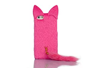 3D Cute Fluffy Tail Cat TPU Case Cover Skin for Apple iPhone 5