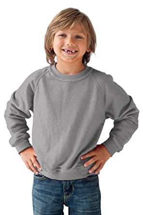 Anvil - Sweatshirt - Mixte Enfant - Gris (HGY-Heather Grey ) - FR : 13 ans (Taille fabricant : 13 years)