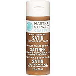 Martha Stewart Crafts Multi-Surface Satin Acrylic Craft Paint in Assorted Colors (2-Ounce), 32070 Chestnut Brown